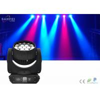 Quality Event Led Bee Eye Moving Head Zoom Light 12w * 19pcs Rgbw 4 in1 IP20 for sale