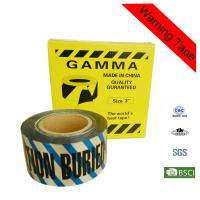 Quality 7.5cm Width Safety Buried Underground Detectable Warning Tape for Irrigation for sale