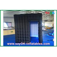 Quality 2.4m Black Inflatable Photo Booth , LED Light Inflatable Picture Booth for sale