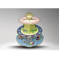 Buy Cake Decorating Round Cardboard Cup Cake Stand / Towering Tiers Cake Stand at wholesale prices