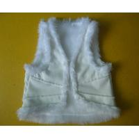 Quality Suede And Fur Joint Winter Vest Jackets , Warm Womens Sleeveless Vest Jacket for sale