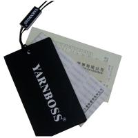Quality Recycle Paper Black Clothing Hang Tags Lazer Gold Foil Logo Personized Size for sale