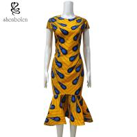 Quality Ankara Fishtail African Print Dresses , Traditional African Women's Clothing for sale