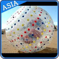 Quality 1.0mmTPU Inflatable Clear Zorb Hydro Ball , Color Dots Hydro Ball for sale