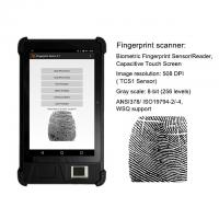 China HFSecurity Oem Android Tablet FP08 8 Inch Biometric security devices Tablet PC ip65 built in barcode scanner on sale