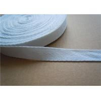 Quality 20mm White Non Elastic Tape Trim , Sewing Double Fold Bias Tape for sale