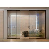 Quality Clear Glass Commercial Aluminium Doors Horizontal Sliding Opening Direction for sale