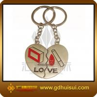 Quality heart shaped  crystal keychain for sale
