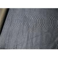 Quality Snake Skin Pattern Leather Fabric For Handbags Wallet 0.6mm Pearlied Sky Blue for sale