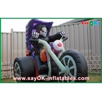 Quality Black Oxford Cloth Halloween Yard Inflatable Decorations Motorcycle Inflatable Shape for sale
