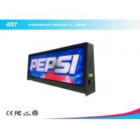 Quality Full Color P5mm Taxi top LED Display With Large Viewing Angle , Led Taxi Roof Signs for sale