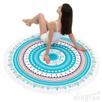 Quality Round Beach Towel Beach Blanket Large Microfiber Towels Yoga Mat Multi Purpose for sale