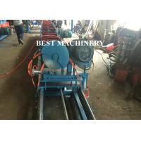 Quality Flat Oval Pipe / Tube Making Custom Roll Forming Machine Ellipse Shape Steel for sale