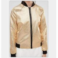 Quality Women Fashion Gold Quilted Ma1 Bomber Jacket Autumn Waterproof Lightweight for sale