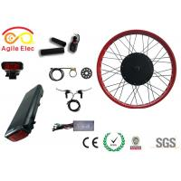 Quality High Power Fat Tire Ebike Conversion Kit , Black Diy Electric Bike Kit for sale