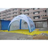 Durable Inflatable Advertising Tent PVC Fabric Flame Retardant Anti UV Custom Logo Printed for sale