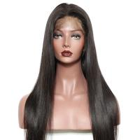 Buy cheap Straight Lace Front Human Hair Wigs Thick Bottom / Full Cuticle from wholesalers