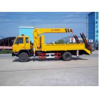 Quality dongfeng 145 6.3ton telescopic crane truck for sales for sale