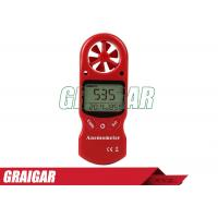 Quality Red 8 In 1 Anemometer Wind Speed Meter / TL-302 humdity Tester Beaufort Scale for sale