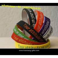 Buy custom logo size design cheap promotional items china personalized Silicone Wristband at wholesale prices