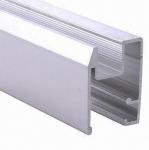 Quality PVDF Painted Black Aluminum Window Extrusion Profiles , Bathroom Aluminum Sliding Windows for sale