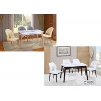 China Wear Proof Modern Dining Room Sets 5 Piece , Modern Marble Dining Table on sale