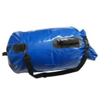 China Blue Mesh Waterproof Camping Bag , PVC Dry Sack Backpack Easy To Store Away on sale