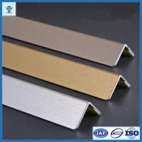 Buy Brushed Gold Color Anodized Aluminum Angle Profiles for Decoration Material at wholesale prices