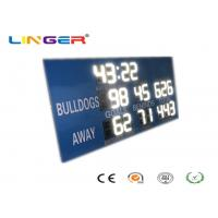 Quality AFL Led Cricket /  Football Scoreboard in white Color , Customized Scoreboard in Blue Cabinet for sale