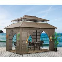 Quality China garden house outdoor pavilion with sofa garden rattan tents 1115 for sale