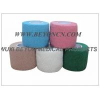 Quality Colored Medical Cotton Elastic Bandage  / Breathable First Aid Bandage for sale