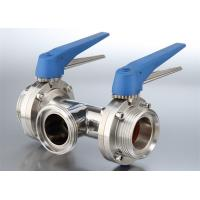 Quality Safety Hygienic Stainless Steel Sanitary Valves With 580 Psi Maximum Pressure for sale