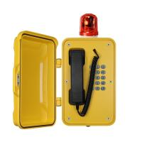 Quality Heavy Duty Industrial Outdoor Weatherproof Telephones With Warning Light for sale