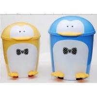 Quality Promotional Eco Friendly Blue Custom Made Plastic Cartoon Garbage Can Containers for sale