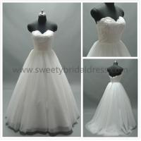 Quality Ball Gown Sweetheart Beading Zipper Lace and Tulle Wedding Dress AS1825D for sale