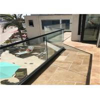 Quality Commercial Frameless Glass Railing System With Powder Coated Aluminum U Channel for sale