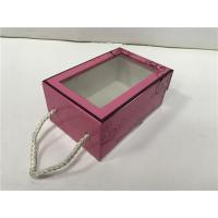 China Corrugated Paper Large Flat Gift Box Front Drop Well - Sealing Recyclable Pink for sale