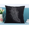Buy cheap Custom Unique Creative Shiny Diamonds Logo Black Soft Velvet Cushion Pillowcase from wholesalers