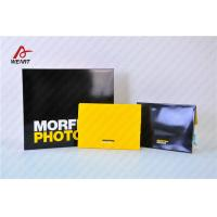Quality Yellow & Black Color Customized Logo Promotional Paper Bags Glossy Lamination for sale