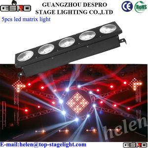Quality White color 5pcs 10W LED Matrix Beam Light for sale