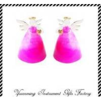 Buy cheap colored christmas decoration glass angel from wholesalers