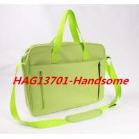Quality Cheap Promotional Office Document Bag Green Briefcase with zipper for sale