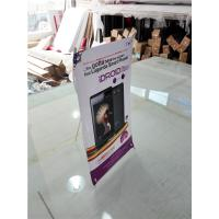 China Mini Table  X Style Banner Stand Digital Printing Desktop Advertising Display on sale
