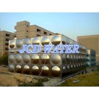 Quality Vertical Domestic Sectional Water Tanks For Commercial , Bead Blasted Stainless Steel Water Tanks for sale