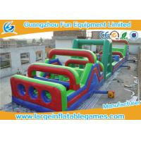 Quality Commercial Separating Extreme Running Obstacle Course Inflatable With Giant Rush For Park for sale