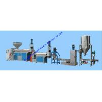China LDPE HDPE PP Granule Making Machine , Hot Cutting Plastic Recycling Equipments on sale