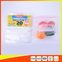 Quality Biodegradable Freezer ZipLock Plastic Bags For Supermarket / Household for sale