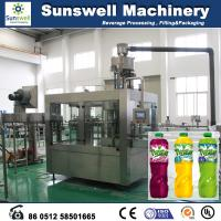 Quality 3-In-1 Hot Filling Machine , Stainless Steel Juice Filling Machine for sale