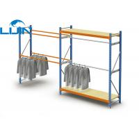 China Powder Coated Light Duty Metal Clothes Rack, Steel Commercial Clothing Racks on sale