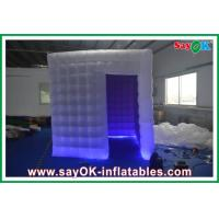 Quality Oxford Cloth PVC Coated Inflatable Photobooth Kiosk With Led Lights for sale